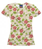Женская футболка 3D Цветы