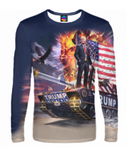 Мужская футболка с длинным рукавом 3D Trump