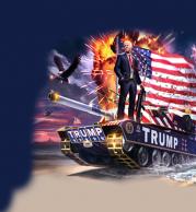 Толстовка без капюшона 3D Trump