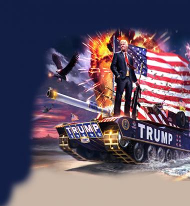 Футболка поло женская 3D Trump