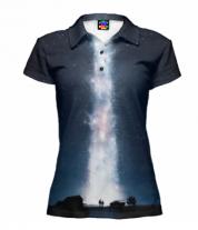 Футболка поло женская 3D Interstellar