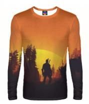 Мужская футболка с длинным рукавом 3D The Witcher  3