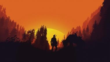 Мужская футболка 3D The Witcher  3