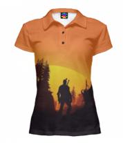 Футболка поло женская 3D The Witcher  3