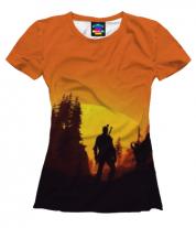 Женская футболка 3D The Witcher  3