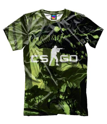 Мужская футболка 3D Cs go skin Virus