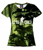 Женская футболка 3D Cs go skin Virus