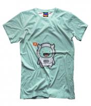 Мужская футболка 3D Дьявол Космонавт