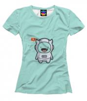 Женская футболка 3D Дьявол Космонавт