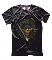 Мужская футболка 3D Mortal Kombat Scorpion