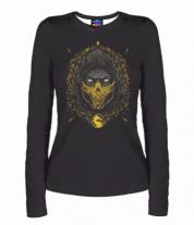 Женская футболка с длинным рукавом 3D Mortal Kombat Scorpion