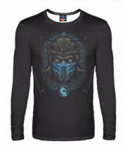 Мужская футболка с длинным рукавом 3D Mortal Kombat Sub-Zero