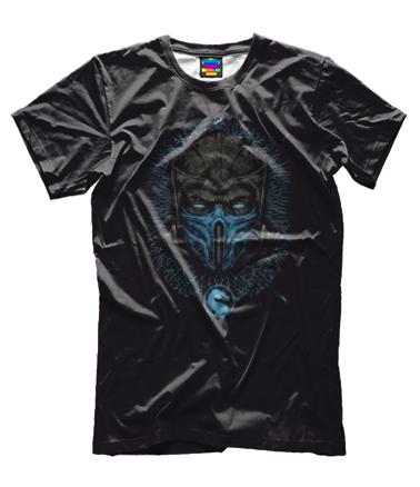 Мужская футболка 3D Mortal Kombat Sub-Zero