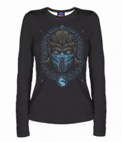 Женская футболка с длинным рукавом 3D Mortal Kombat Sub-Zero
