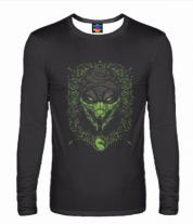 Мужская футболка с длинным рукавом 3D Mortal Kombat Reptile