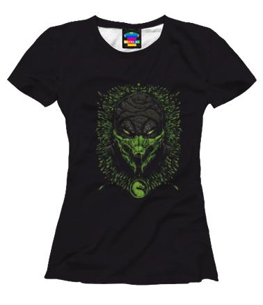 Женская футболка 3D Mortal Kombat Reptile
