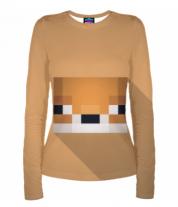 Женская футболка с длинным рукавом 3D MineCraft