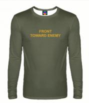 Мужская футболка с длинным рукавом 3D FRONT TOWARD ENEMY