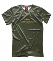 Мужская футболка 3D FRONT TOWARD ENEMY