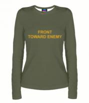 Женская футболка с длинным рукавом 3D FRONT TOWARD ENEMY