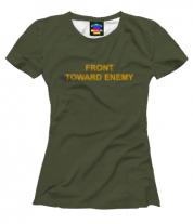 Женская футболка 3D FRONT TOWARD ENEMY