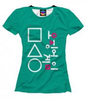 Женская футболка 3D Игра в кальмара форма