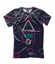 Детская футболка 3D Игра в кальмара 456