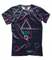Мужская футболка 3D Игра в кальмара 456